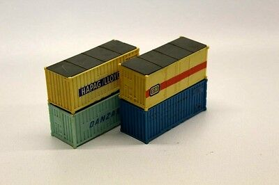 4 x HO Gauge Shipping Containers JOBLOT OO/HO Trackside Accessories G1