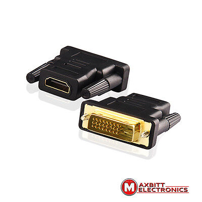 Dvi Male 24 + 1 Pin To Hdmi Female Adapter Connector Converter Laptop Pc Monitor