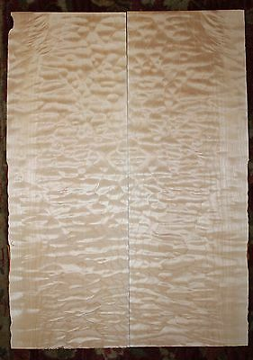 Quilted maple guitar top. Very nice figure.