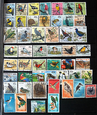 A Great Collection Of Stamps Showing Birds, Bird Thematics.