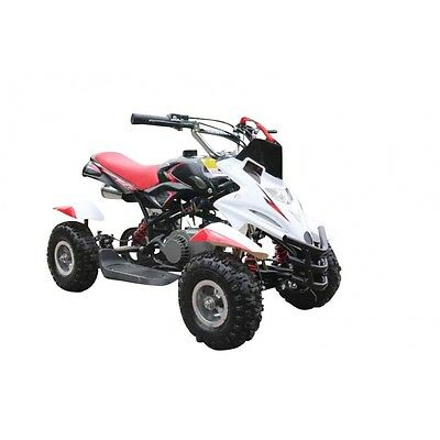 Hawkmoto 50cc Dirt Ninja Mini Off-Road Petrol Quad Bike - Red
