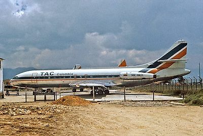 TAC COLOMBIA-SE-210-CARAVELLE- HK-1811 -Kodachrome slide airline AIRCRAFT