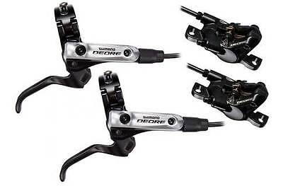 Shimano Deore M615 Hydraulic Disc Brakes - Front L & Rear R Set