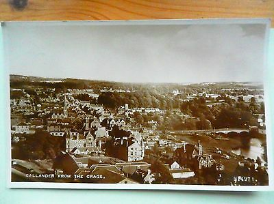Scotland POSTCARD STIRLINGSHIRE CALLANDER FROM THE CRAGS