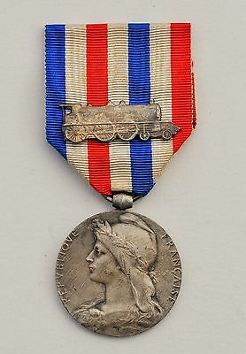 FRANCE: FRENCH RAILWAY SERVICE MEDAL, 1st type, SILVER