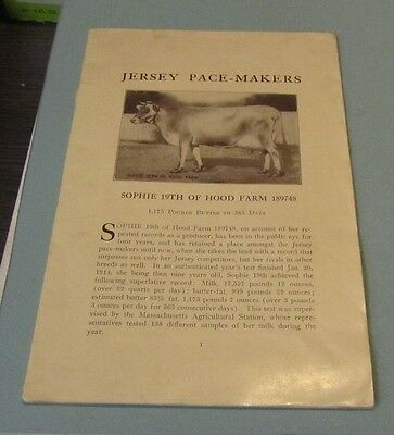 1914 American Jersey Cattle Club Pacemakers Champions Photo Book Butter Producer
