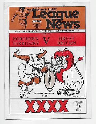 Northern Territory V England 1984 Rugby League Tour Match Australia