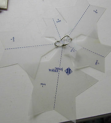June Tailor quilting templates x 6 various sizes STARS on  chain