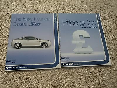 Hyundai Coupe SIII (Incl. 2.7 V6) - Brochure Pack - 2006 - Mint