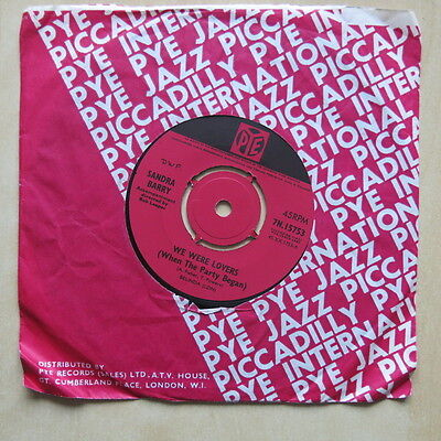 "SANDRA BARRY We Were Lovers [When The Party Began] UK 7"" Pye 7N 15753 1965"