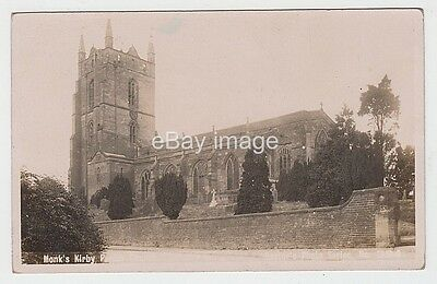 Monk's Kirby parish church exterior 1908 (Baxter, Hinckley) RP postcard nr Rugby