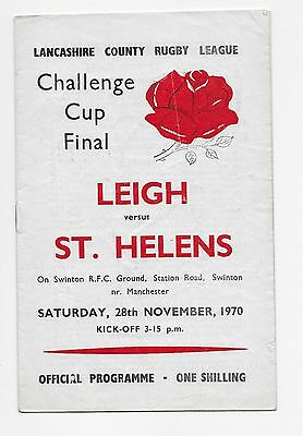 Leigh V St Helens 1970 Lancashire Rugby League Cup Final At Swinton