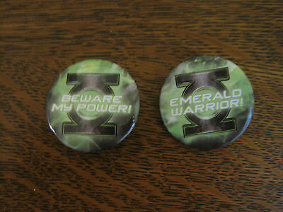 Green Lantern DC Comics Set of TWO Pins/Buttons