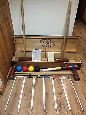 4 Player Townsend Croquet Limited Set. Made In Frinton-on-Sea England Wooden Box