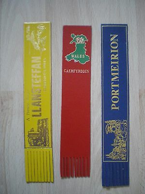 Collection Of Leather Bookmarks - Wales