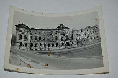 Vintage 1954 City Hall Germany Destroyed in WWII Black & White Photograph Rare