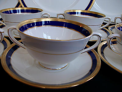 COALPORT ELITE ROYALE (c.1972+) CREAM SOUP BOWL & SAUCER (s) - ELEGANT!! MINT!!