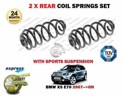 FOR BMW X5 E70 SDRIVE XDRIVE 2007-- ON  2x REAR COIL SPRINGS SET M SPORT MODELS