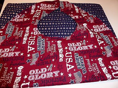 """Adult Bibs /cover-ups for adults, seniors, disabled; """"OLD GLORY"""""""