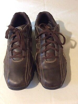 Skechers Men's Brown Leather Lace Up Oxfords SZ 13 M