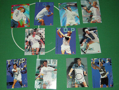 11 Tennis Trading Cards 1995 Mint Condition Becker Sampras Agassi Rusedski Chang