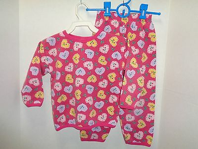 Girls Pink with Hearts 2 Pc Sweat  Set  Size 4 T- Gerbers- OutFits Set