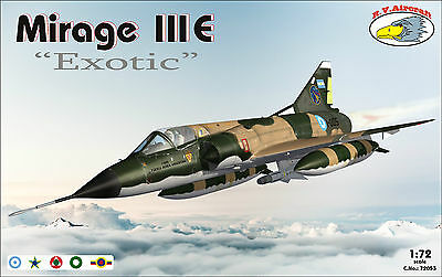 NEU ! RV Aircraft 1/72 Mirage IIIE EXOTIC plastic kit