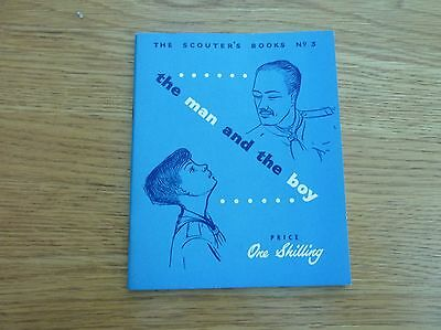 1953 1st EDITION SCOUTER BOOK SCOUTS THE MAN AND THE BOY SOFTBACK