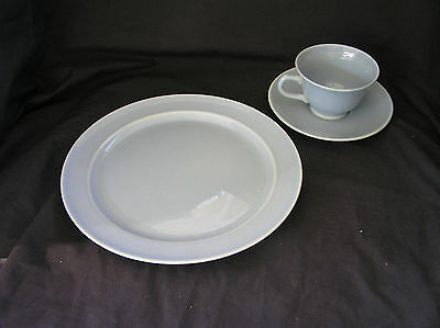 3 LuRay Pastel TST BLUE Cup/Saucer & Dinner Plate