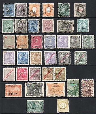 EARLY PORTUGESE COLONIES  AZORES  37 stamps All Good Looking & Collectable