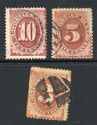U.S.A. 1879-81  3 V. Fine Used stamps  attractive sound & collectable Nice ****