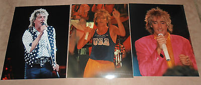 ROD STEWART  3  original photos      8 x 10