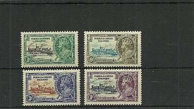 Turks & Caicos Sg187-189 1935 Silver Jubilee Set Mounted Mint