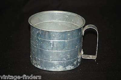 Old Vintage Two Cup Aluminum Measuring Cup Home / Kitchen Utensil Tool Decor