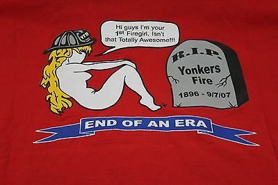 XXXL Yonkers NY Fire Dept First female firefighter 2007 shirt