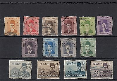 Egypt.14 -- Middle Period Used Stamps On Stockcard