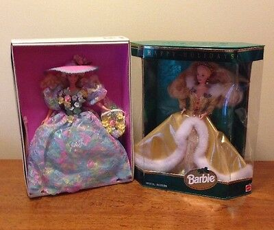 1994 Mattel Special Edition Barbies Spring Bouquet And Happy Holidays
