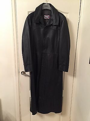 Leather Long Trench Coat jacket X small