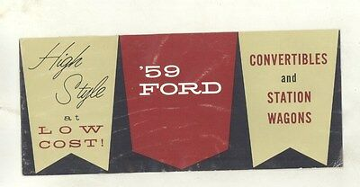 1959 Ford Sunliner Thunderbird Skyliner Convertible & Wagon Brochure ww4986