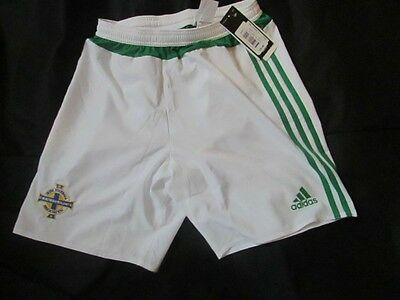 adidas Northern ireland Home Football Shorts white & green Small Mens BNWT
