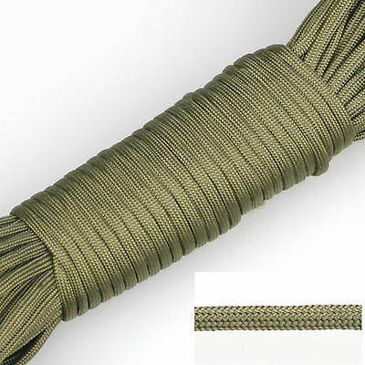 100ft Green 550 Paracord Parachute Cord Lanyard Mil Spec Type III 7 Strand Core