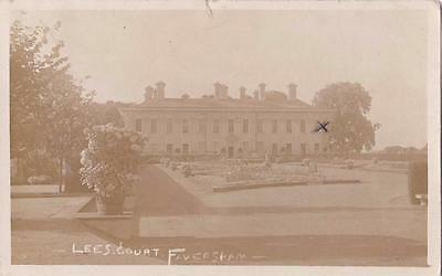 Rp Faversham Lees Court Ww1 Military Hospital From Wounded Soldier Kent 1915