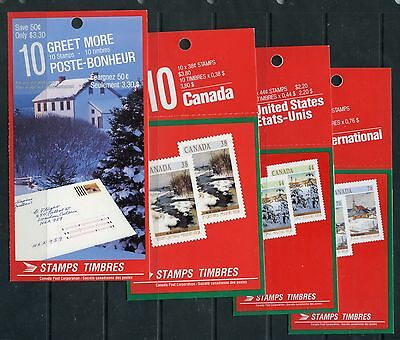 Weeda Canada BK106-109 VF and Scarce set of 4 1989 Christmas booklets CV $142