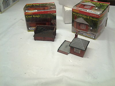 hornby scaledale coal stage & weighbridge & scales