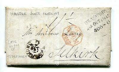 1817 WALTER SCOTT & MUNGO PARK. MULL to SELKIRK. LATE USAGE OF TOBERMORY MILEAGE