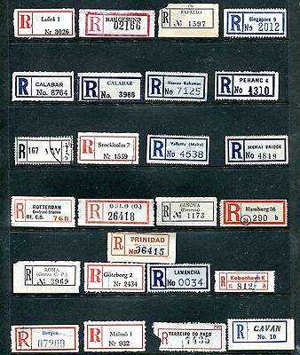 25 Assorted Early Scarce World Registration Labels.