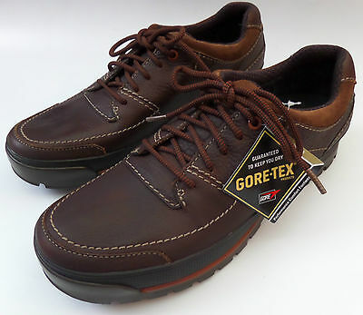 Mens Clarks Plus Gore-Tex Brown Leather Lace Up Shoes Size 11 Narly Path Fit G