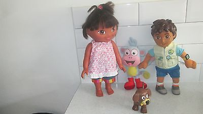 Plastic Dora The Explorer + Talking Diego & Perrito The Dog & Soft Toy Boots