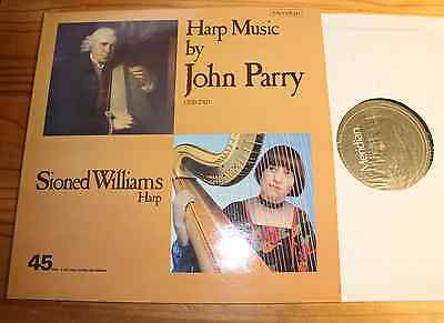 45 rpm NATURAL SOUND: Harp Music by John PARRY LP MERIDIAN