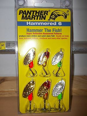 Panther Martin Hammered 6 spinner lures PMHM6  NIP